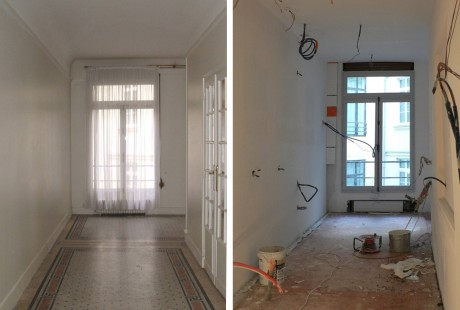 RENOVATION_APPARTEMENT_PARIS_CUISINE02_AVANT et CHANTIER