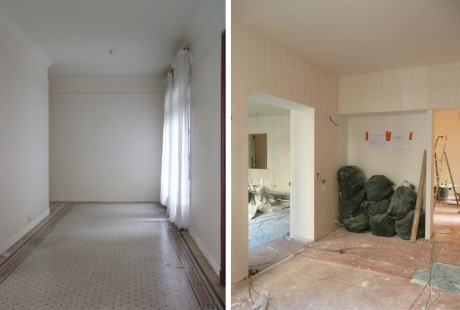 RENOVATION_APPARTEMENT_PARIS_HALL_AVANT et CHANTIER