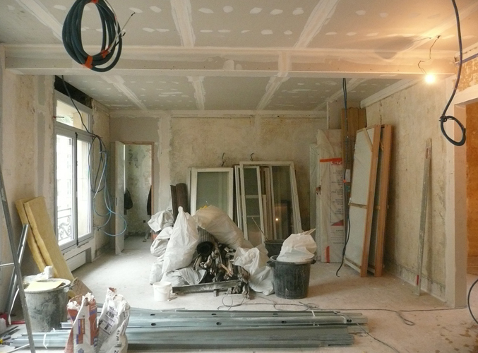 Les chambres en chantier