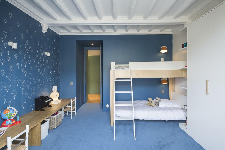 Chambre d'enfant au total look bleu
