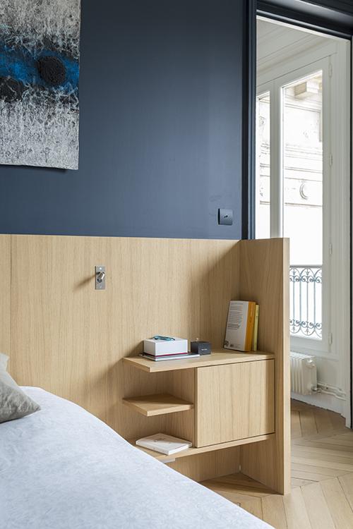 rénovation-appartement-paris 9 - chambre parents