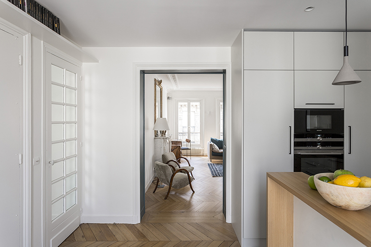 rénovation-appartement-paris 9 - cuisine salon