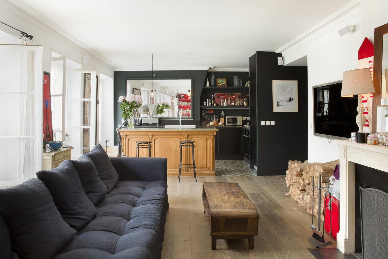 appartement cheminee salon central