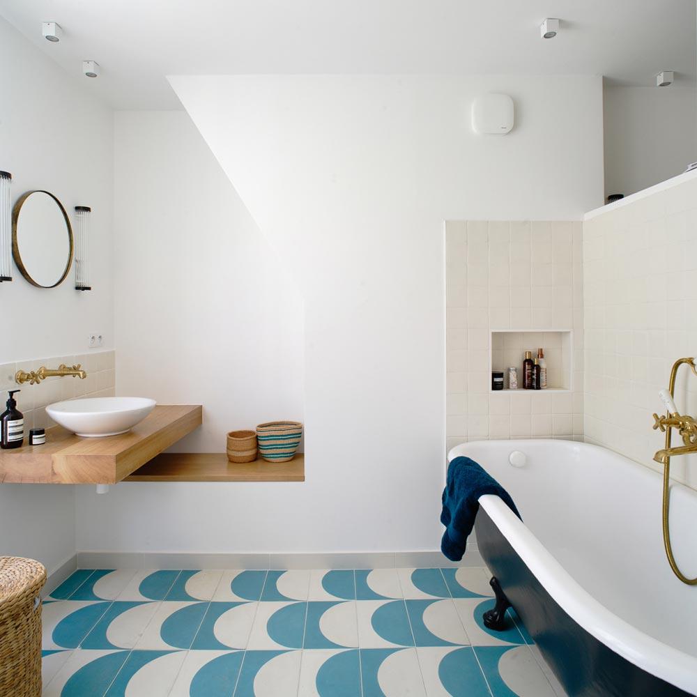 bains bois carreaux ciments