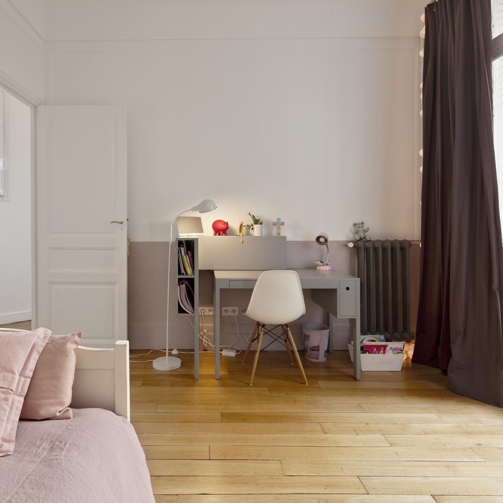 chambre enfant rose Holzapfel radiateur acier