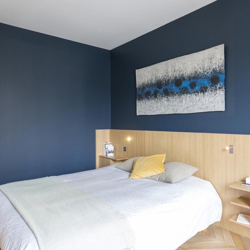 chambre-stiffkey blue tete de lit chene