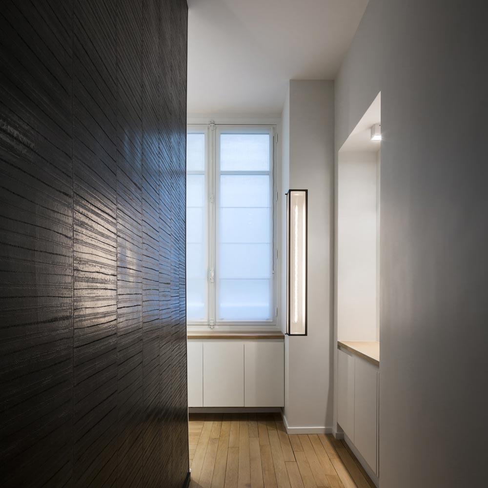 couloir niche lumiere papier peint