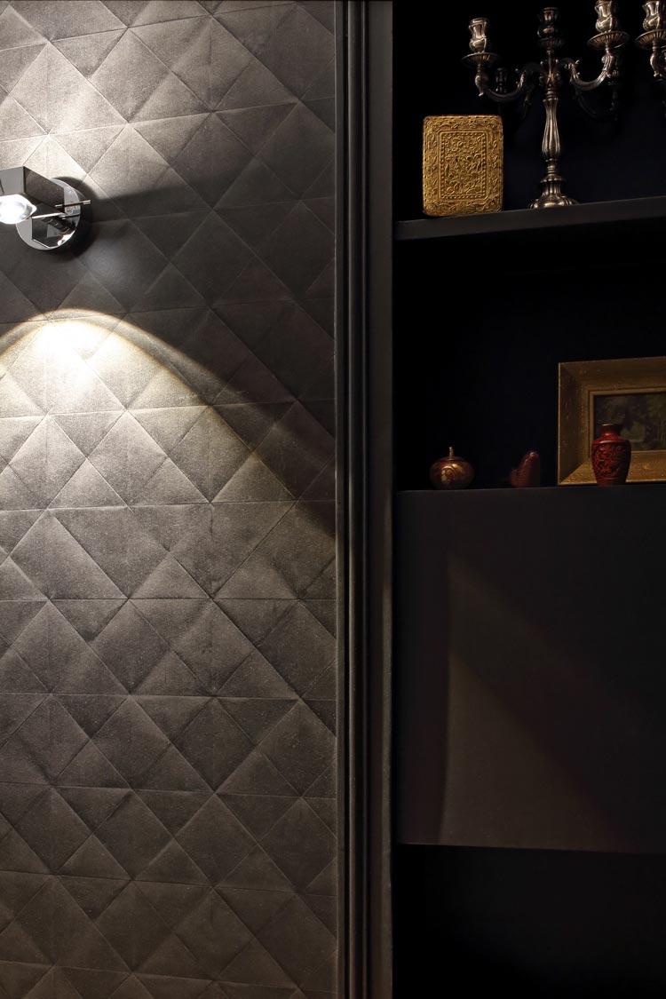 couloir noir papier peint pleats