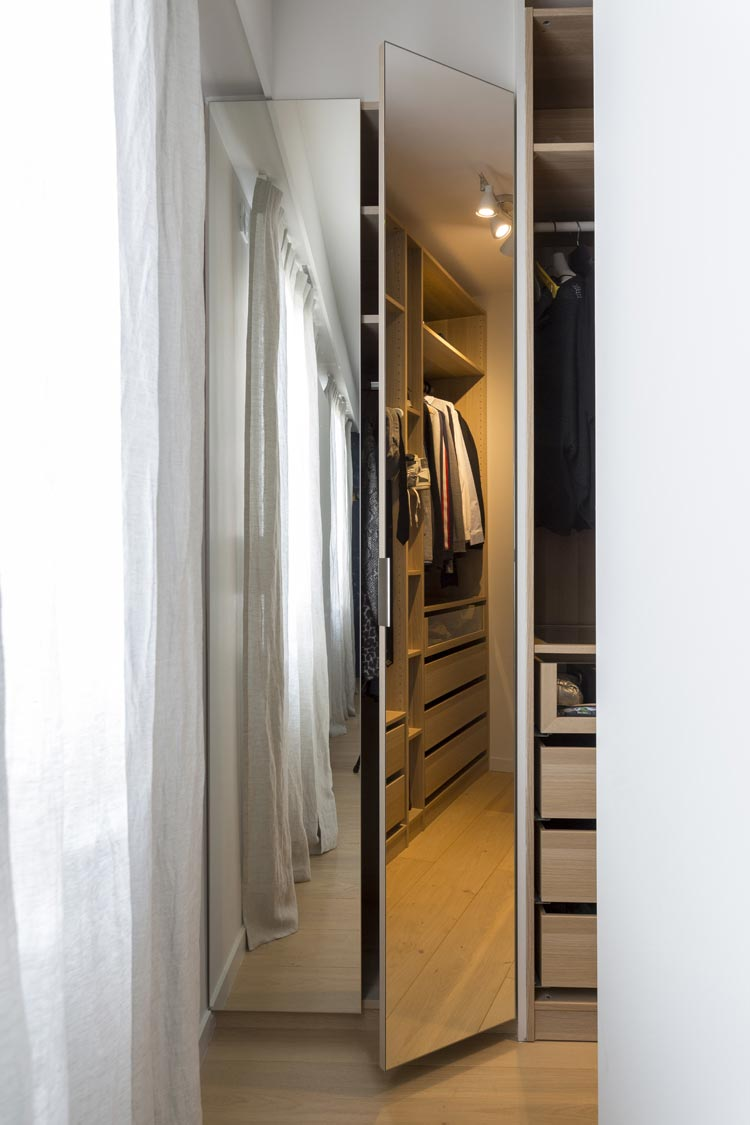 dressing miroirs parquet clair
