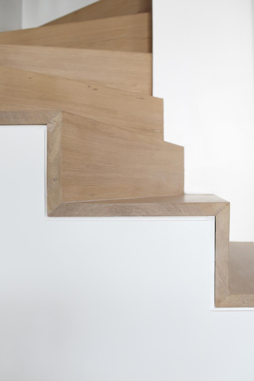 escalier marches chene