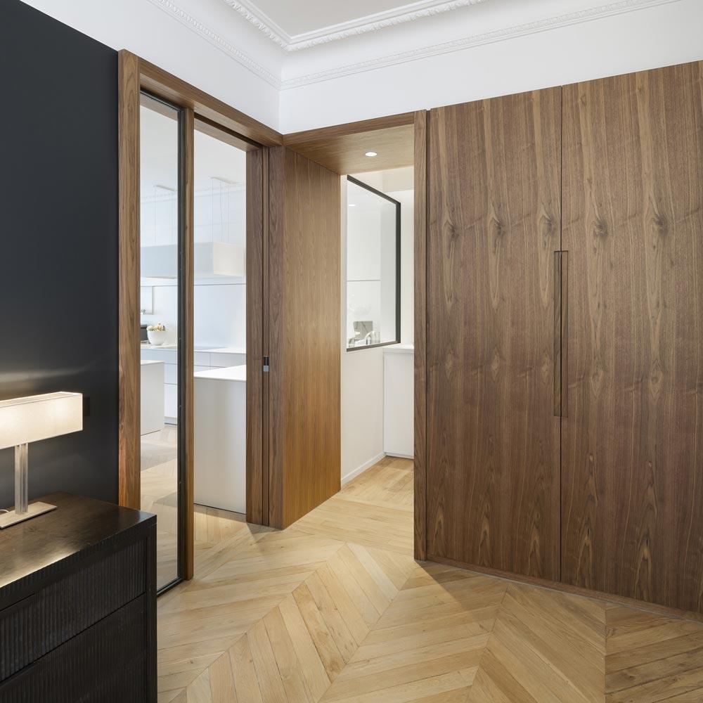 rangements-sur mesure bois portes invisibles