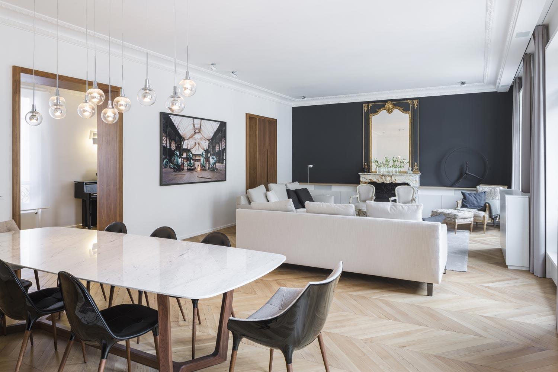 appartement haussmannien grand salon