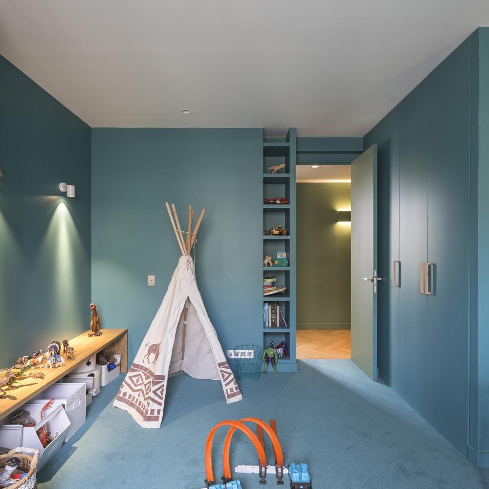 chambre enfant verte