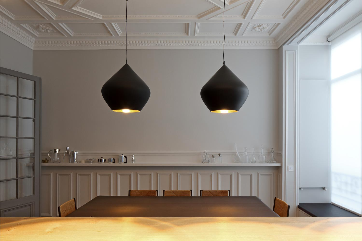 salle a manger alcove suspensions moulures