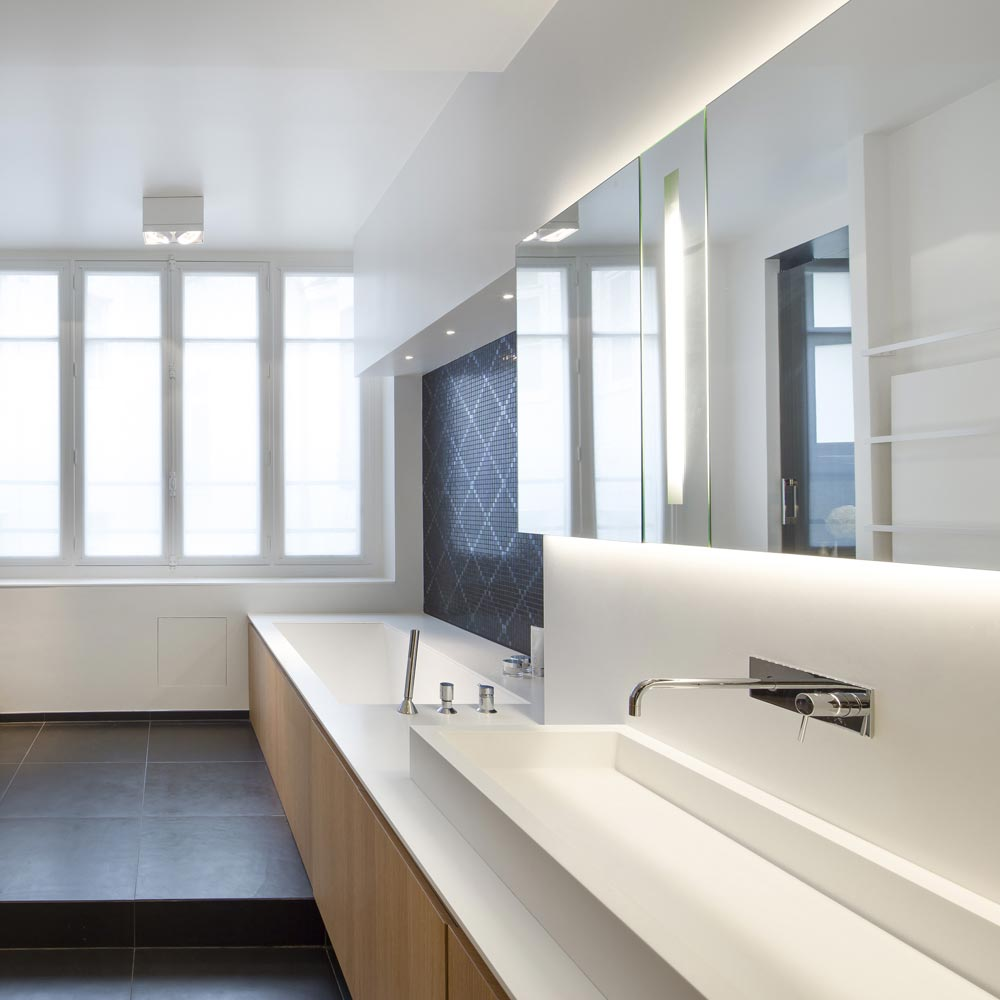 salle de bain chene blanc noir