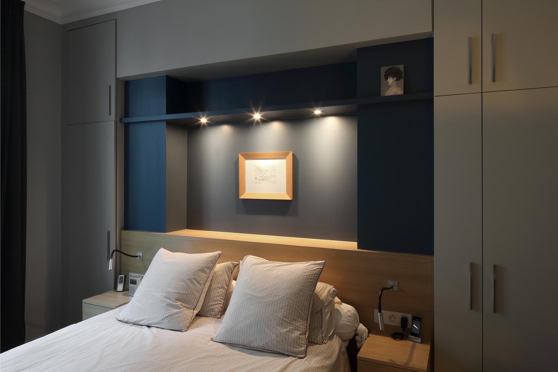 tete de lit bleu stiffkey chene sur mesure