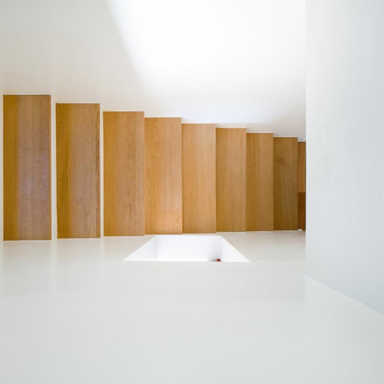 escalier bois chene puit de lumière