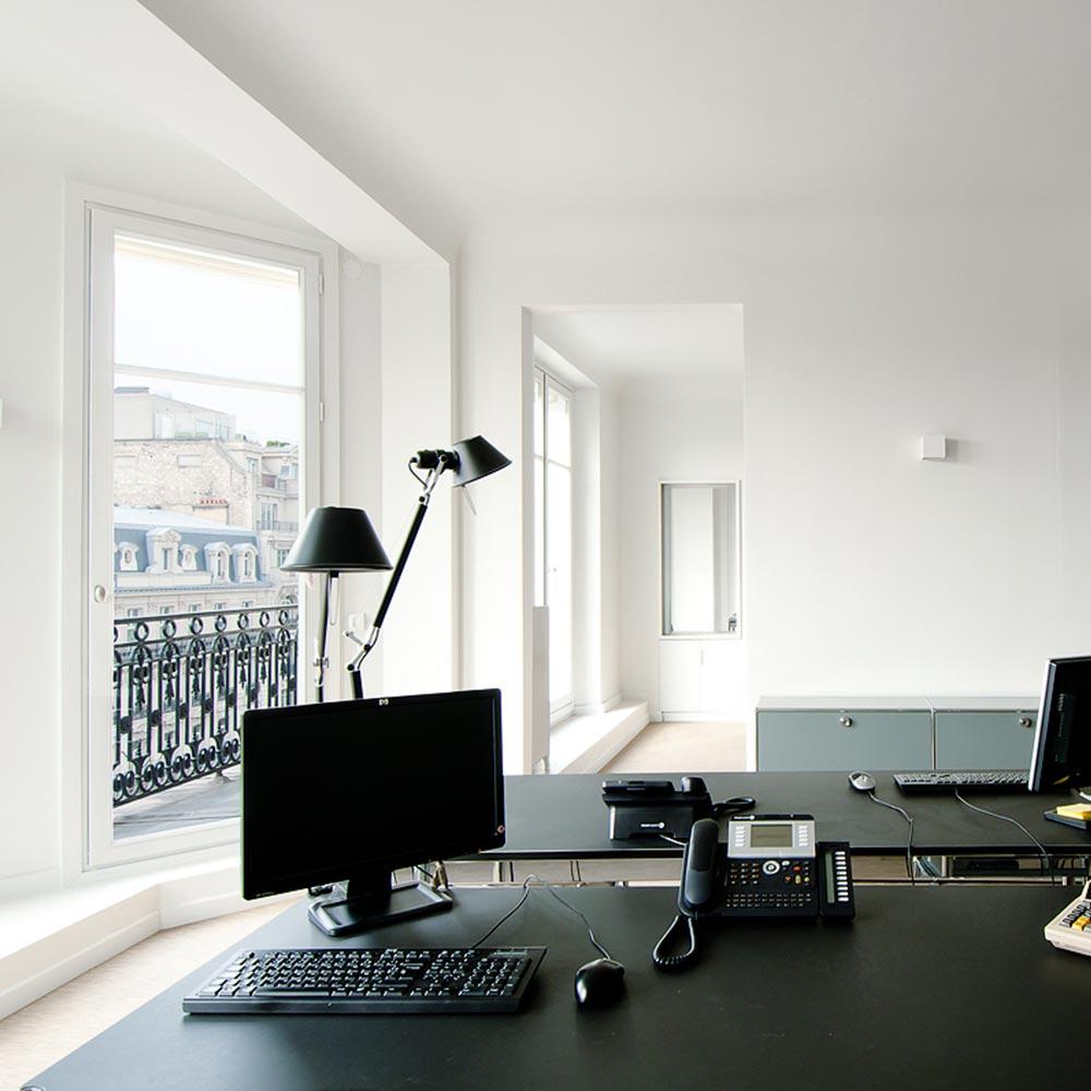 bureaux vue openspace artemide