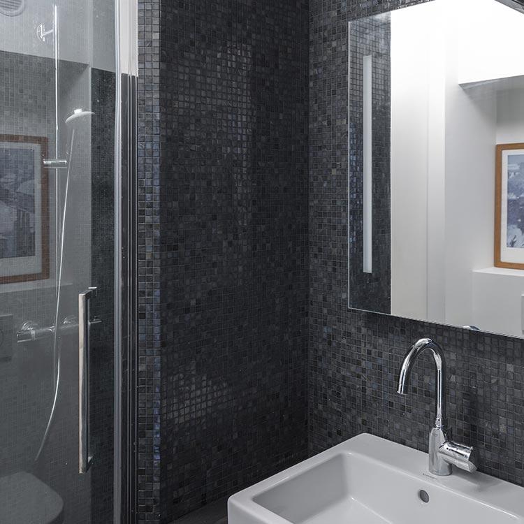 salle de bain douche mosaique sicis natural