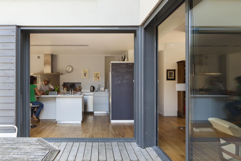 terrasse porte a galandage cuisine architecture parquet