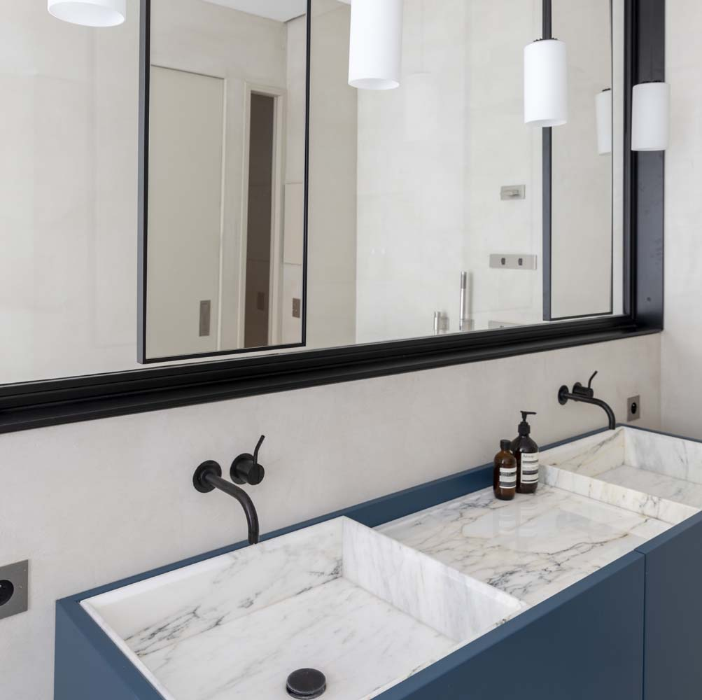 salle de douche beton cire