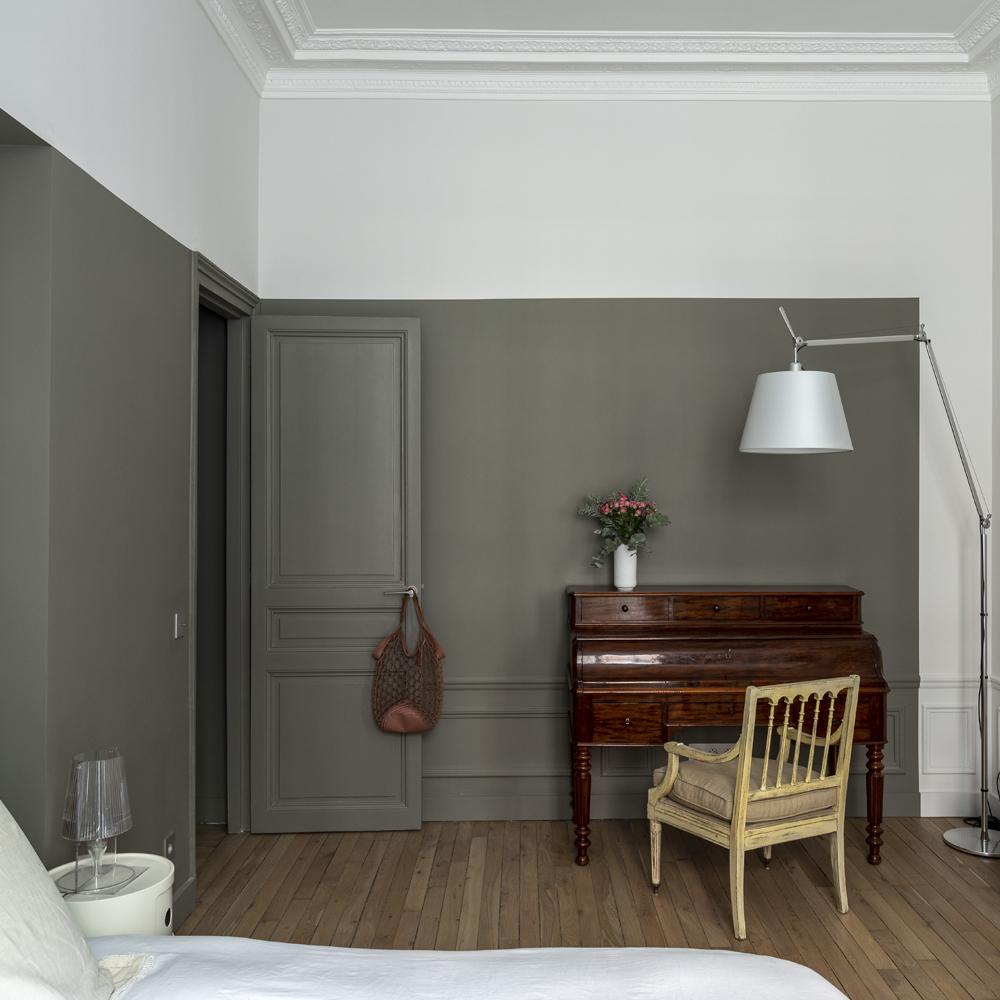 chambre mur terreglaise argile