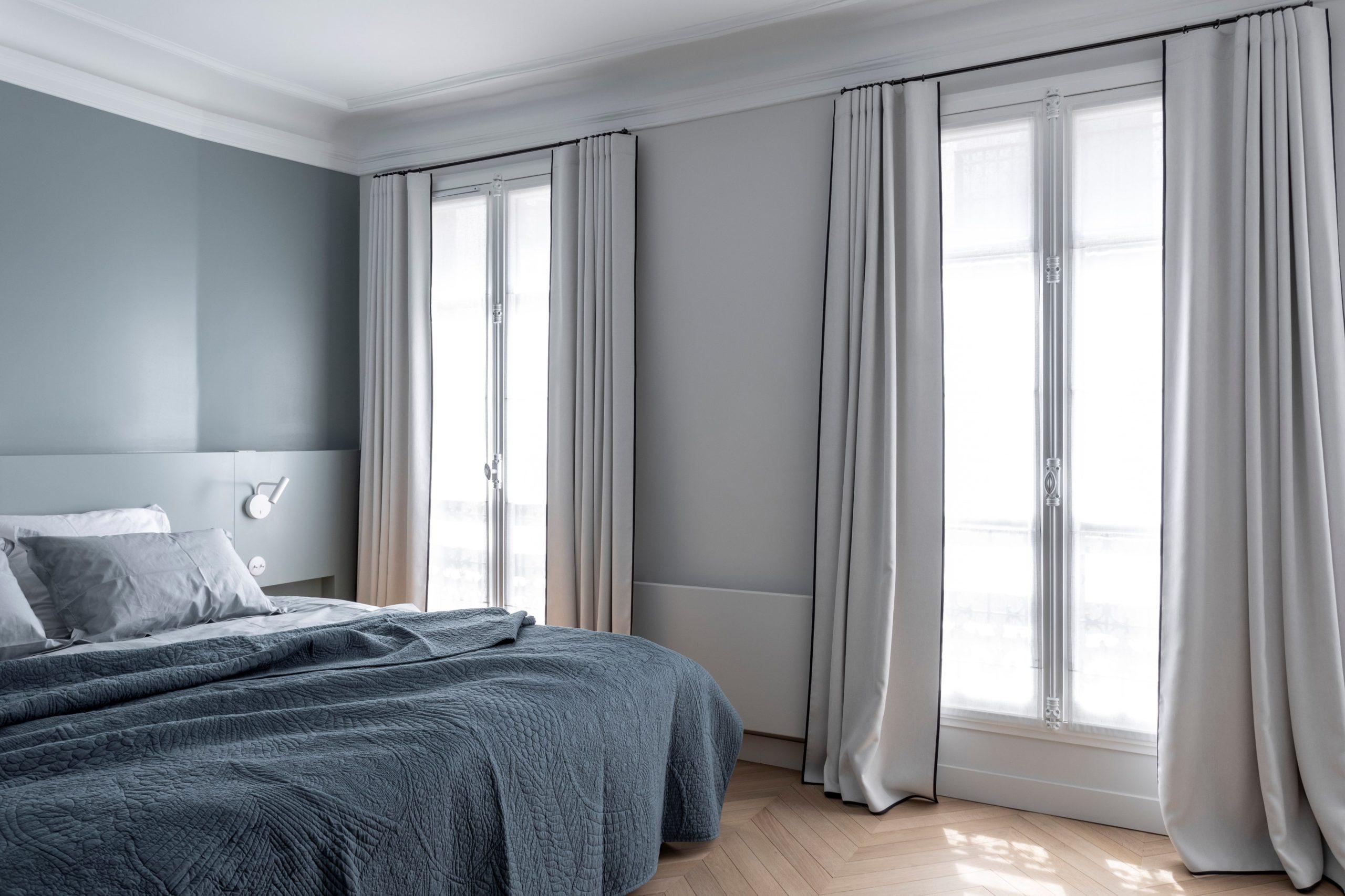 chambre rideaux tete de lit point-de hongrie